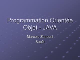 Programmation Orientée Objet - JAVA