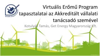 Virtuális Erőmű Program tapasztalatai az Akkreditált vállalati tanácsadó szemével