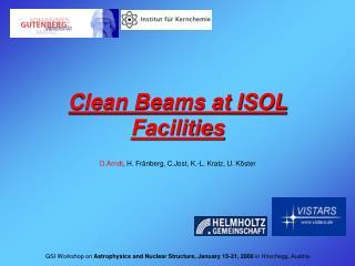 Clean Beams at ISOL Facilities