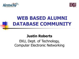 WEB BASED ALUMNI DATABASE COMMUNITY
