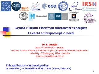 Gean4 Human Phantom advanced example:  A Geant4 anthropomorphic model