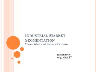 Industrial Market  Segmentation