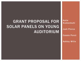 Grant Proposal for Solar Panels on Young Auditorium