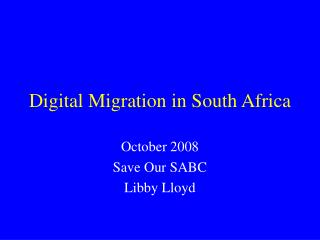 Digital Migration in South Africa