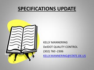 SPECIFICATIONS UPDATE