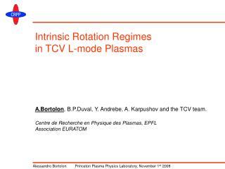 Intrinsic Rotation Regimes in TCV L-mode Plasmas