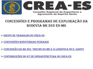 GRUPO DE TRABALHO DO CREA-ES