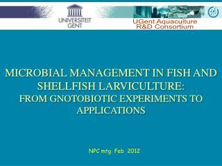 UGent Aquaculture R&D Consortium