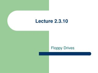 Lecture 2.3.10
