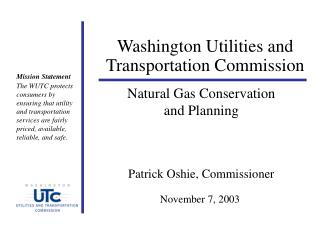 Washington Utilities and Transportation Commission