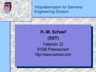 Infopräsentation für Siemens Engineering Division