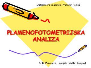 PLAMENOFOTOMETRIJSKA ANALIZA