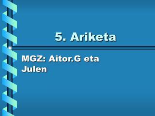 5. Ariketa