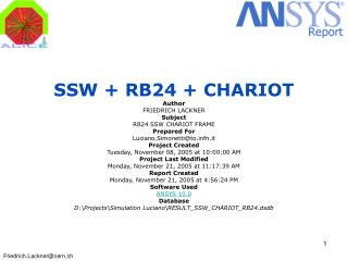 SSW + RB24 + CHARIOT Author  FRIEDRICH LACKNER  Subject  RB24 SSW CHARIOT FRAME  Prepared For