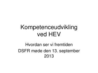 Kompetenceudvikling ved HEV