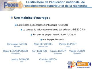 Le Ministère de l'éducation nationale, de l'enseignement supérieur et de la recherche