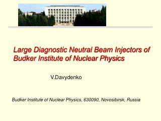 Large Diagnostic Neutral Beam Injectors of  Budker Institute of Nuclear Physics