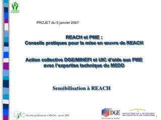 Sensibilisation à REACH