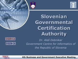 Slovenian Governmental Certification Authority