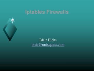 Iptables Firewalls
