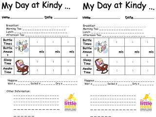My Day at Kindy ...