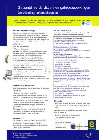 Gecombineerde visuele en gehoorbeperkingen Ontwikkeling behandelprotocol