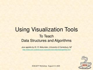 Using Visualization Tools
