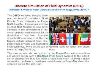 Discrete Simulation  of Fluid  Dynamics (DSFD)