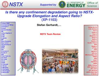 Is there any confinement degradation going to NSTX-Upgrade Elongation and Aspect Ratio? (XP-1103)
