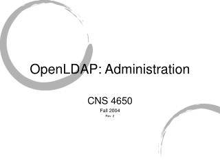 OpenLDAP: Administration