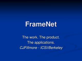 FrameNet