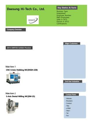 Daesung  Hi-Tech Co., Ltd.