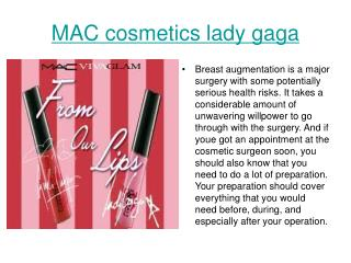MAC cosmetics lady gaga