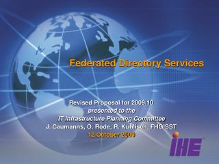 Federated Directory Services