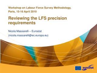 Nicola Massarelli – Eurostat (nicola.massarelli@ec.europa.eu)