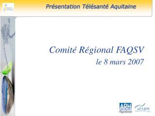 Comit� R�gional FAQSV le 8 mars 2007