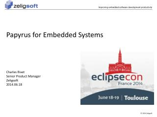 Papyrus for Embedded Systems