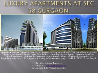 Luxury Apartments At Sec 58 Gurgaon