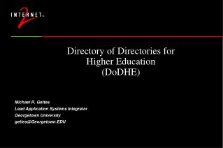 Directory of Directories for Higher Education (DoDHE)