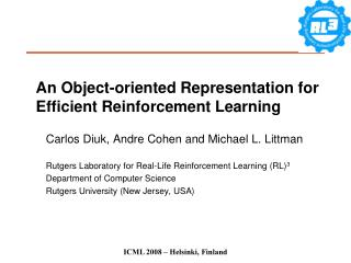 An Object-oriented Representation for Efficient Reinforcement Learning
