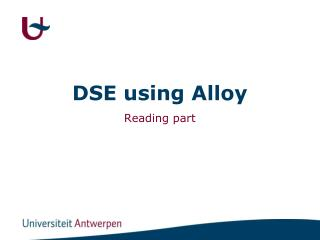 DSE using Alloy