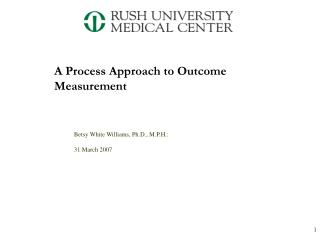 A Process Approach to Outcome Measurement