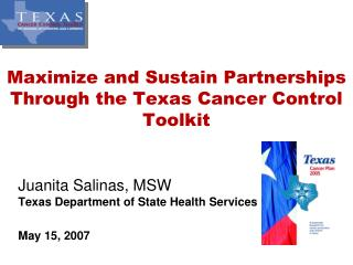Maximize and Sustain Partnerships Through the Texas Cancer Control Toolkit
