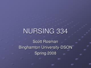 NURSING 334