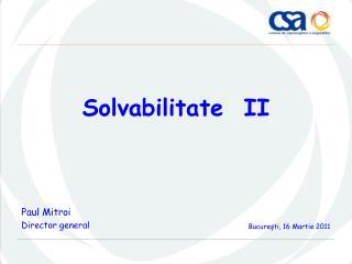 Solvabilitate  II