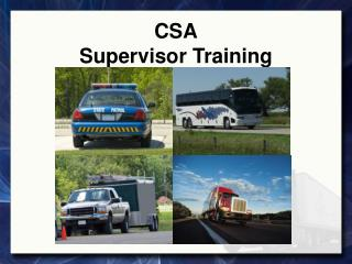CSA Supervisor Training