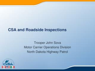 CSA and Roadside Inspections