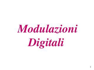 Modulazioni Digitali