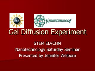 Gel Diffusion Experiment