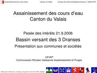Assainissement des cours d'eau  Canton du Valais